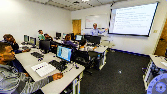 Take a virtual tour of our CompTIA training room
