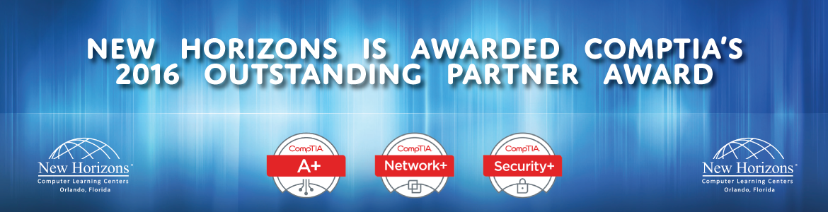 CompTIA's 2016 Outstanding Partner Award New Horizons Orlando